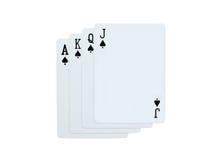 Pôquer dos cartões de jogo da pá Imagens de Stock Royalty Free