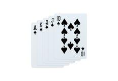 Pôquer dos cartões de jogo da pá Foto de Stock