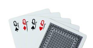 Pôquer dos cartões de jogo da rainha Fotos de Stock