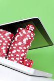 Pôquer em linha Fotos de Stock