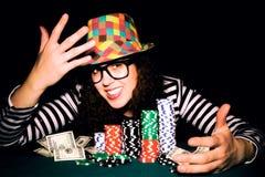 Pôquer feliz Fotos de Stock