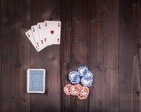 Pôquer velho do vintage Fotografia de Stock Royalty Free