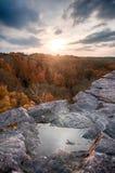 Pôr-do-sol bonito Fotografia de Stock Royalty Free