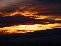 Pôr do sol da montanha Imagens de Stock Royalty Free