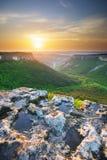 Pôr do sol da montanha Foto de Stock Royalty Free