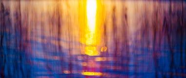 Pôr do sol de Bokeh Fotos de Stock Royalty Free