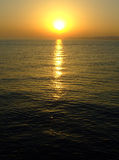 Pôr-do-sol do mar Foto de Stock Royalty Free