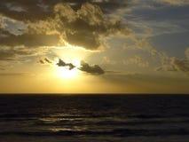 Pôr do sol do Mar do Norte Fotografia de Stock Royalty Free