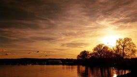Pôr-do-sol dourado Foto de Stock