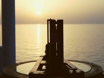 Pôr do sol durante todo o sextante Fotos de Stock