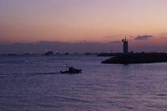 Pôr-do-sol no mar de Marmara Fotografia de Stock Royalty Free