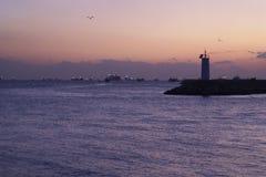 Pôr do sol no mar de Marmara 2 Foto de Stock Royalty Free