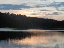 Pôr do sol sobre o lago Eufaula Imagens de Stock