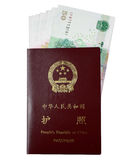 P.R. Passaporte de China com RMB Imagem de Stock Royalty Free