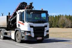 P-séries Hiab Crane Truck de Scania da próxima geração Fotografia de Stock Royalty Free