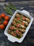 P?s de galinha Roasted com especiarias, close-up foto de stock royalty free