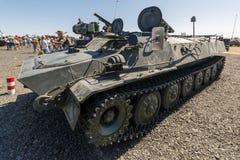 9P149 shturm-S is een systeem van de tanktorpedojager op de chassis dat MT-pond wordt gebaseerd stock foto's