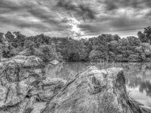 På sjön Arkivbild