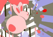P?skaffisch Modern design f?r h?lsningkort vektor illustrationer