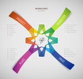 4p strategy business concept infographic background. 4p strategy business concept marketing infographic background stock illustration