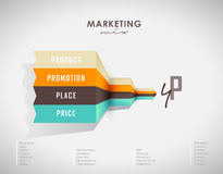 4p strategy business concept marketing. Infographic background stock illustration