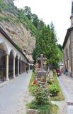 På Sts Peter kyrkogård i Salzburg Arkivbild