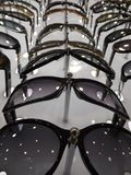 P Sunglasses are many by series in the store glasses Stock Photography