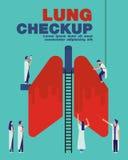 Płuca checkup pokrywy mieszkanie Obrazy Stock