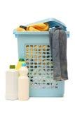 Płuczkowy kosz z detergentem Zdjęcie Stock
