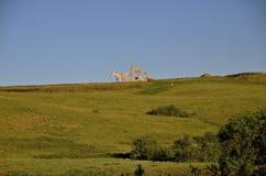 P: umping Öl mit mehrfachen Anlagen Lizenzfreies Stockfoto