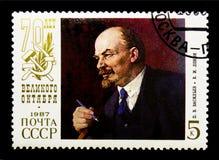 P V Vasilyev V Mim Lenin, 70th aniversário de grande outubro Revo Foto de Stock