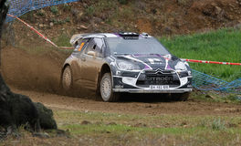 P. Van Merksteijn (NLD) driving is Citroen DS3 WRC Royalty Free Stock Photography