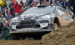 P. Van Merksteijn (NLD) driving is Citroen DS3 WRC Stock Images