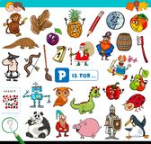 P is voor onderwijsspel voor kinderen royalty-vrije stock fotografie