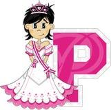 P is voor Prinses Stock Foto