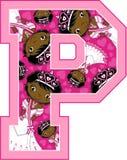 P is voor Prinses Royalty-vrije Stock Afbeelding
