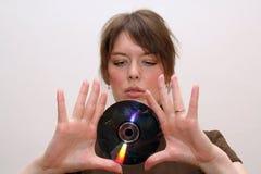 płyta cd blanc Zdjęcie Stock