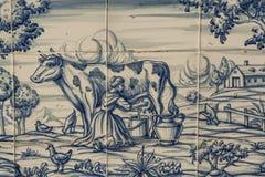 Płytka, Talavera, obraz, praca w polach Fotografia Royalty Free