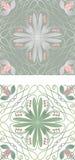 Płytka z kwiecistym motywem Obrazy Stock