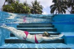 pływacka basen kobieta Fotografia Stock
