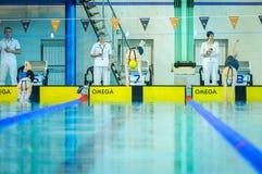Pływacka rywalizacja Fotografia Stock