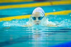Pływacka rywalizacja Fotografia Royalty Free