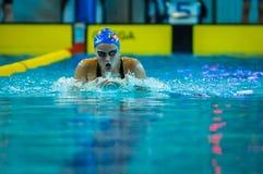 Pływacka rywalizacja Zdjęcie Royalty Free