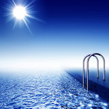 Pływacki basen royalty ilustracja