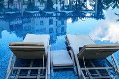 Pływacki basen hotelowy wakacje Zdjęcie Stock