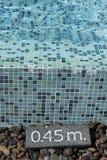 Pływacki basen i znak Fotografia Stock