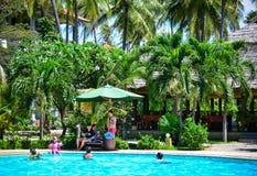 Pływacki basen luksusowy kurort w Wietnam Fotografia Stock