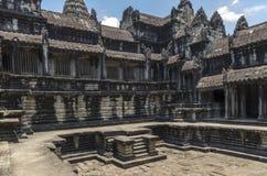 Pływacki basen na 2nd poziomie Angkor Wat Obraz Stock