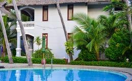 Pływacki basen resrort w Phan Thiet, Wietnam Obrazy Stock