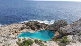 Pływacki basen w Cala D'or Zdjęcia Royalty Free